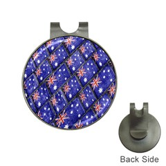 Australian Flag Urban Grunge Pattern Hat Clips with Golf Markers