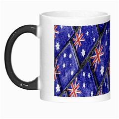 Australian Flag Urban Grunge Pattern Morph Mugs