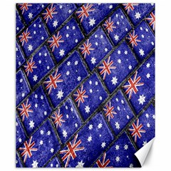 Australian Flag Urban Grunge Pattern Canvas 20  x 24