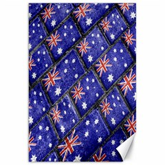 Australian Flag Urban Grunge Pattern Canvas 20  x 30
