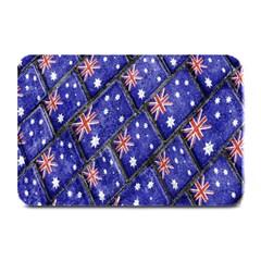 Australian Flag Urban Grunge Pattern Plate Mats