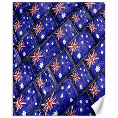 Australian Flag Urban Grunge Pattern Canvas 11  x 14