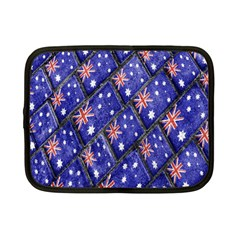 Australian Flag Urban Grunge Pattern Netbook Case (Small)