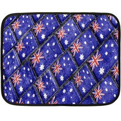 Australian Flag Urban Grunge Pattern Double Sided Fleece Blanket (Mini)