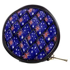 Australian Flag Urban Grunge Pattern Mini Makeup Bags