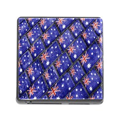 Australian Flag Urban Grunge Pattern Memory Card Reader (Square)