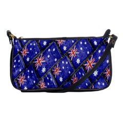 Australian Flag Urban Grunge Pattern Shoulder Clutch Bags