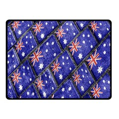 Australian Flag Urban Grunge Pattern Fleece Blanket (Small)