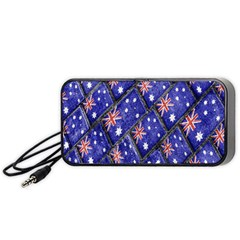 Australian Flag Urban Grunge Pattern Portable Speaker (Black)