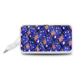 Australian Flag Urban Grunge Pattern Portable Speaker (White)