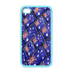 Australian Flag Urban Grunge Pattern Apple iPhone 4 Case (Color)
