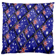 Australian Flag Urban Grunge Pattern Large Cushion Case (One Side)