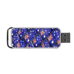 Australian Flag Urban Grunge Pattern Portable USB Flash (Two Sides)