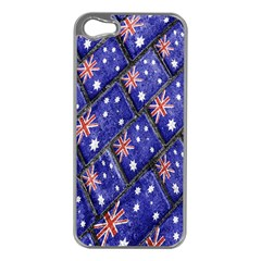 Australian Flag Urban Grunge Pattern Apple iPhone 5 Case (Silver)