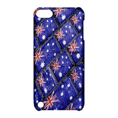 Australian Flag Urban Grunge Pattern Apple iPod Touch 5 Hardshell Case with Stand
