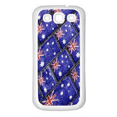 Australian Flag Urban Grunge Pattern Samsung Galaxy S3 Back Case (White)