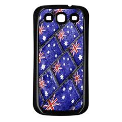 Australian Flag Urban Grunge Pattern Samsung Galaxy S3 Back Case (Black)