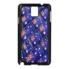 Australian Flag Urban Grunge Pattern Samsung Galaxy Note 3 N9005 Case (Black)