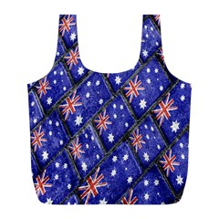 Australian Flag Urban Grunge Pattern Full Print Recycle Bags (L)