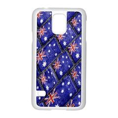 Australian Flag Urban Grunge Pattern Samsung Galaxy S5 Case (White)