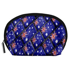 Australian Flag Urban Grunge Pattern Accessory Pouches (Large)