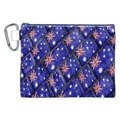 Australian Flag Urban Grunge Pattern Canvas Cosmetic Bag (XXL)