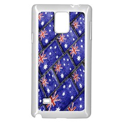 Australian Flag Urban Grunge Pattern Samsung Galaxy Note 4 Case (White)