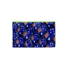 Australian Flag Urban Grunge Pattern Cosmetic Bag (XS)