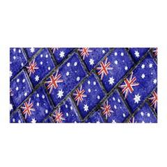 Australian Flag Urban Grunge Pattern Satin Wrap
