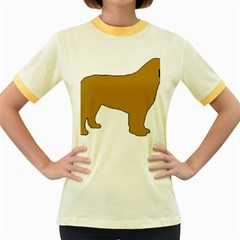 Leonberger Color Silo Women s Fitted Ringer T-Shirts