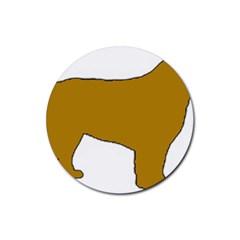 Leonberger Color Silo Rubber Coaster (Round)