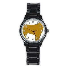 Leonberger Color Silo Stainless Steel Round Watch