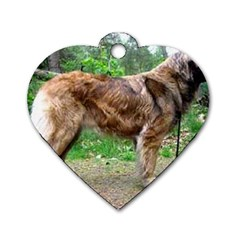 Leonberger Full Dog Tag Heart (Two Sides)