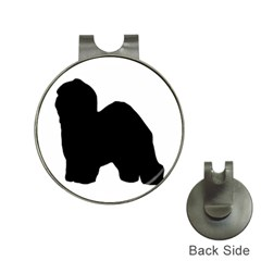 Old English Sheepdog Silo Black Hat Clips with Golf Markers
