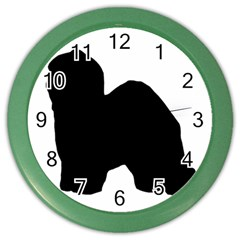 Old English Sheepdog Silo Black Color Wall Clocks
