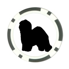 Old English Sheepdog Silo Black Poker Chip Card Guard (10 pack)