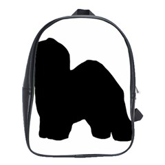 Old English Sheepdog Silo Black School Bags(Large)