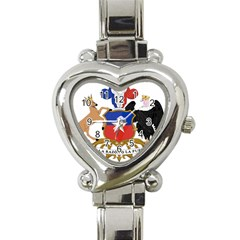 Coat of Arms of Chile Heart Italian Charm Watch