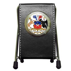 Coat of Arms of Chile Pen Holder Desk Clocks