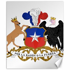 Coat of Arms of Chile Canvas 8  x 10