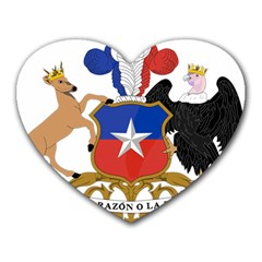 Coat of Arms of Chile Heart Mousepads