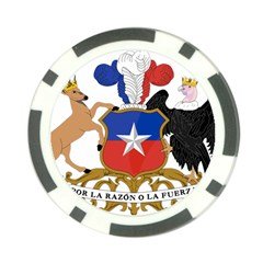 Coat of Arms of Chile Poker Chip Card Guard