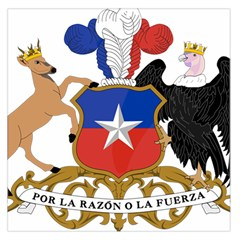 Coat of Arms of Chile Large Satin Scarf (Square)