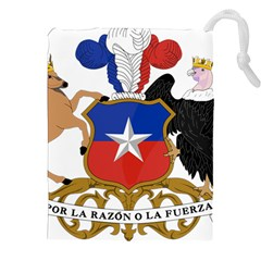 Coat of Arms of Chile Drawstring Pouches (XXL)