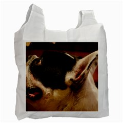 French Bulldog black white Recycle Bag (One Side)