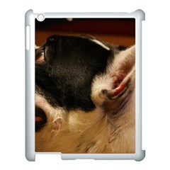 French Bulldog black white Apple iPad 3/4 Case (White)