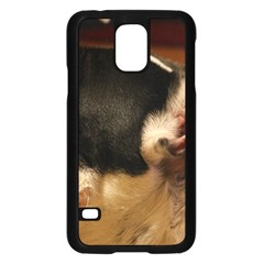 French Bulldog black white Samsung Galaxy S5 Case (Black)