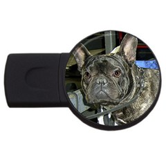 French Bulldog Brindle USB Flash Drive Round (4 GB)