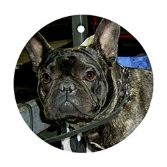 French Bulldog Brindle Round Ornament (Two Sides)