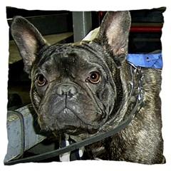 French Bulldog Brindle Large Cushion Case (Two Sides)